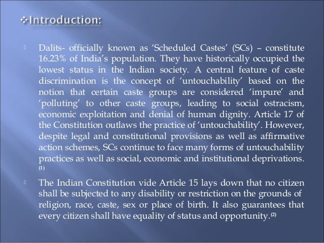 untouchability practice essay The caste system in india is part and parcel of the hindu society it has been coming through the agesuntouchability,caste reforms,constitution,varnas,essay.