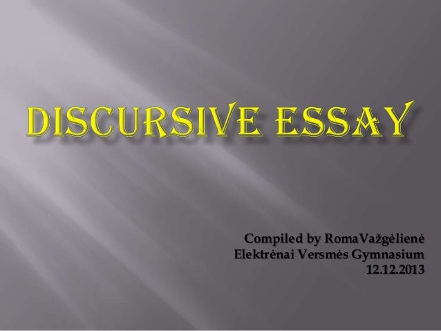 Higher discursive essay writing