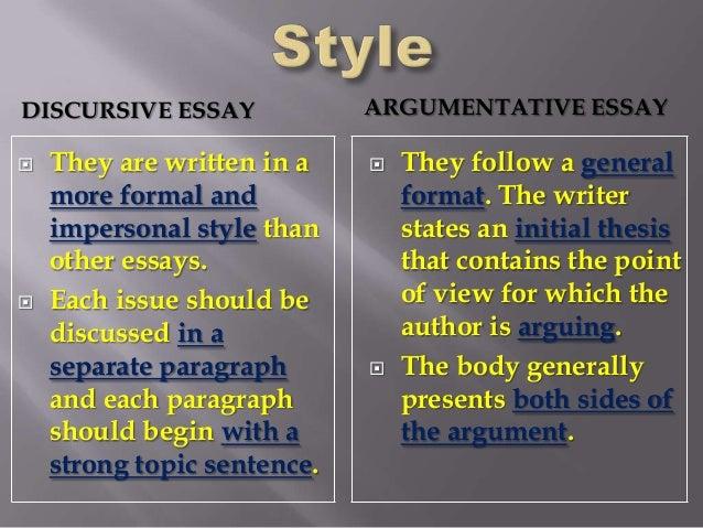 Discursive essay examples