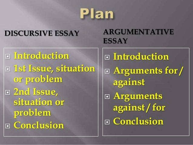 Discursive essay resources