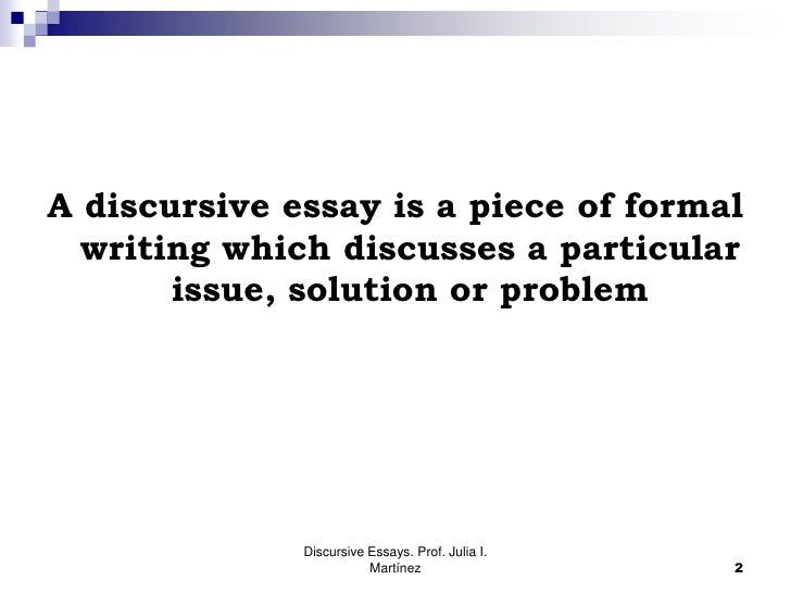 How Do You Start A Discursive Essay