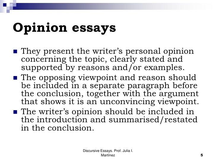 Write essay opinion