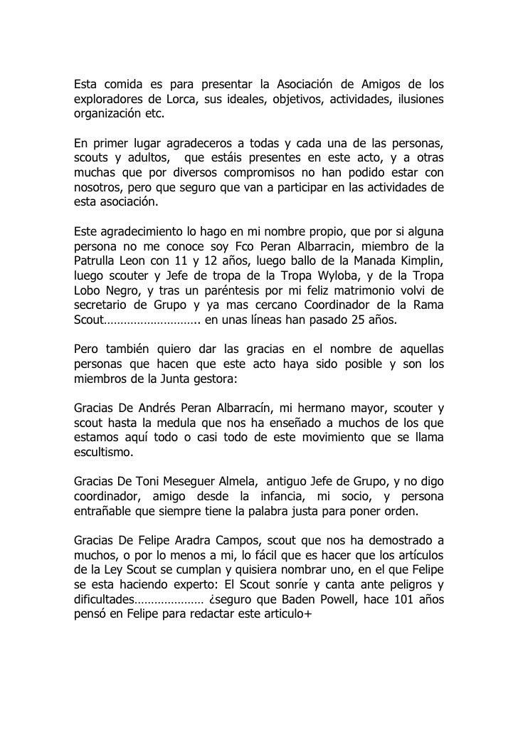 Presentacion Asociacion de Amigos de los Exploradores de Lorca