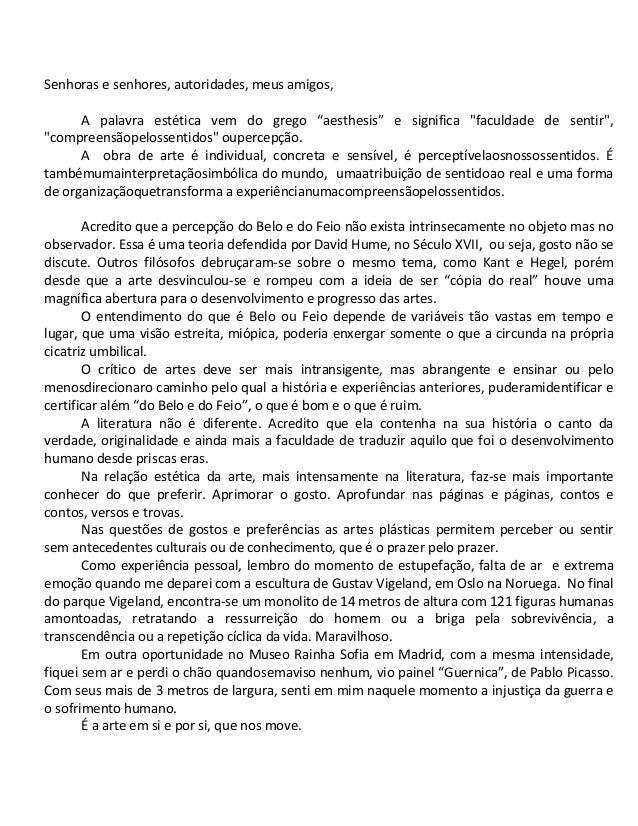 Discurso Dr. Sérgio Pitaki - Posse Diretoria Nacional da Sobrames 2013
