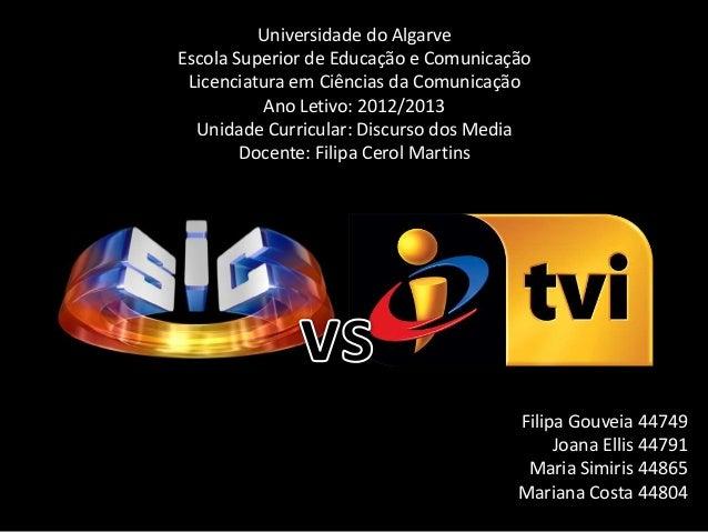 Universidade do AlgarveEscola Superior de Educação e ComunicaçãoLicenciatura em Ciências da ComunicaçãoAno Letivo: 2012/20...