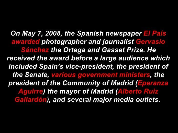 Gervasio Sanchez Speech (English Translation)
