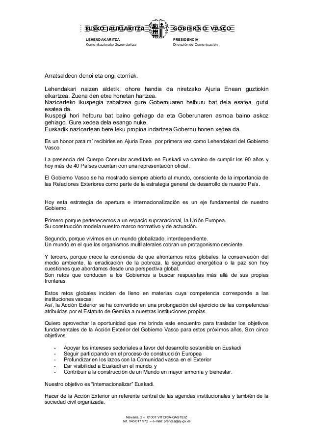 Lehendakariaren hitzaldia - Lemoako auzolandegietara bisita