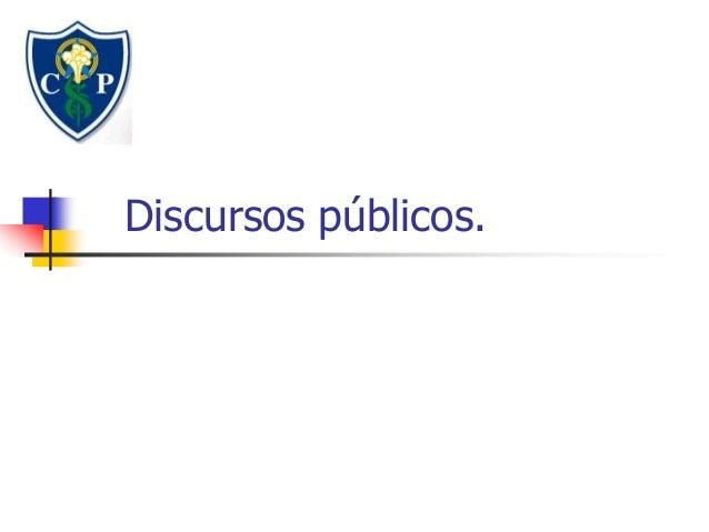 Discursos públicos.