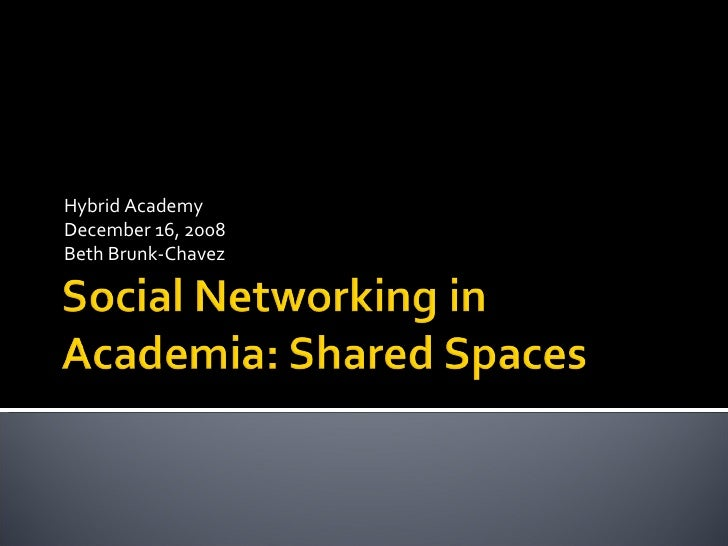 Discussion And Social Networking Presentation
