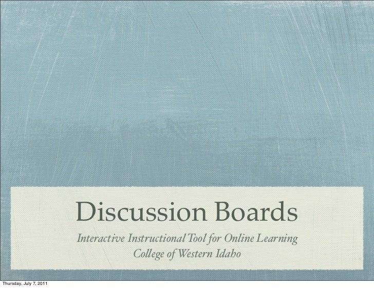 Discussion Boards