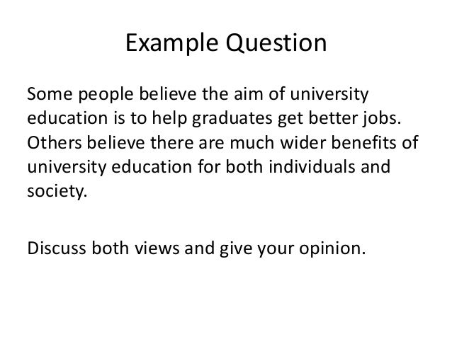 Sample discussion essay - the University of Warwick