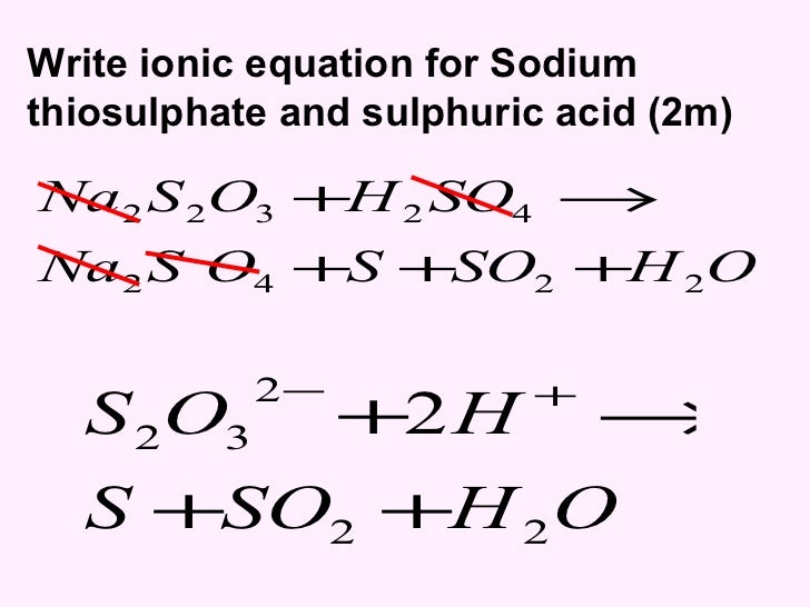 a chemical experiment of the reaction between sodium thiosulphate and hydrochloric acid Hydrogen peroxide oxidises sodium thiosulfate to sulfuric acid the ph change can be followed using universal indicator  the reaction between sodium thiosulfate .