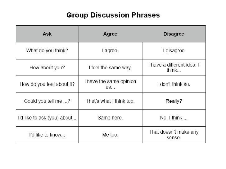 Discussion Phrases