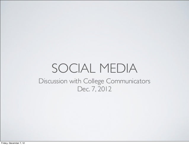 Social Media Discussion with BYU College Communicators