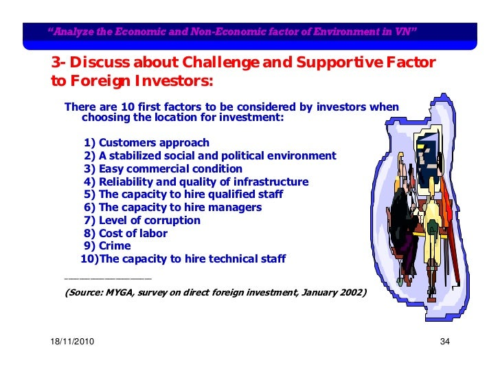 """""""Analyze the Economic and Non-Economic factor of Environment in VN""""3- Discuss about Challenge and Supportive Factorto Fore..."""