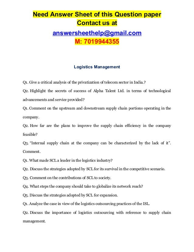 Logistics and Supply Chain Management papers for you