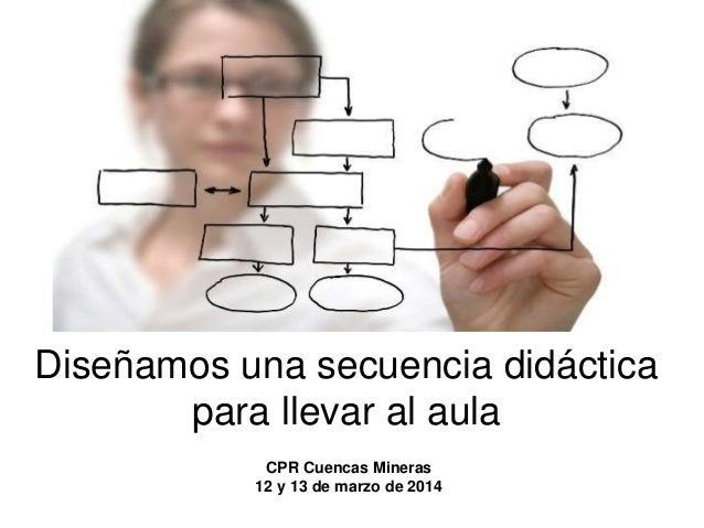 Diseñamos una secuencia didáctica para llevar al aula CPR Cuencas Mineras 12 y 13 de marzo de 2014