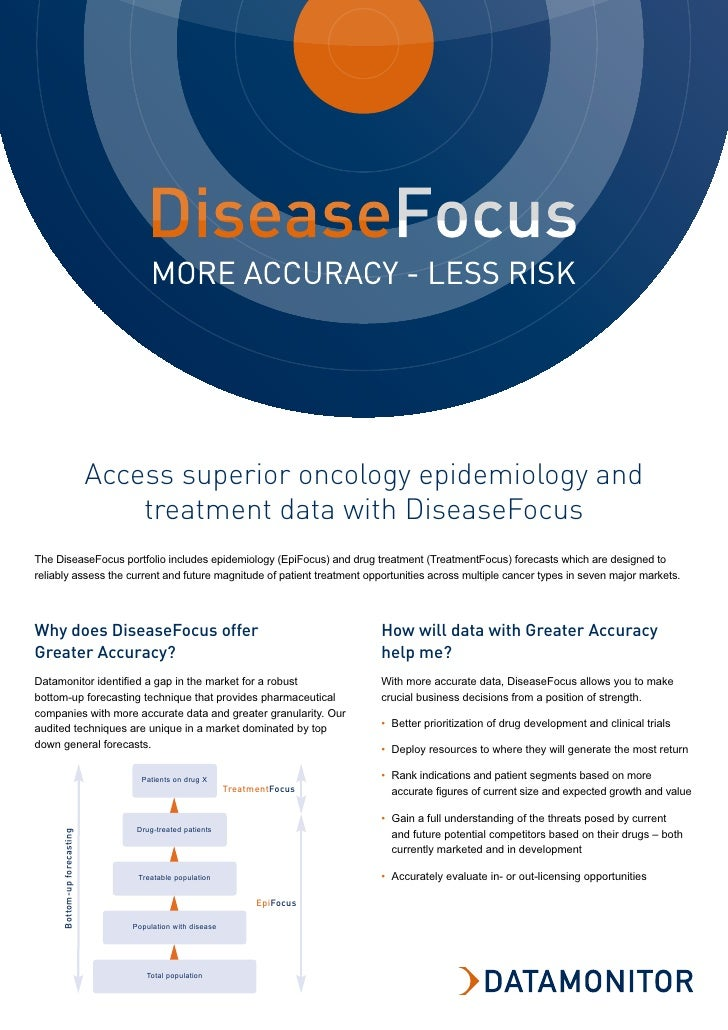 Access superior oncology epidemiology and                                  treatment data with DiseaseFocus The DiseaseFoc...