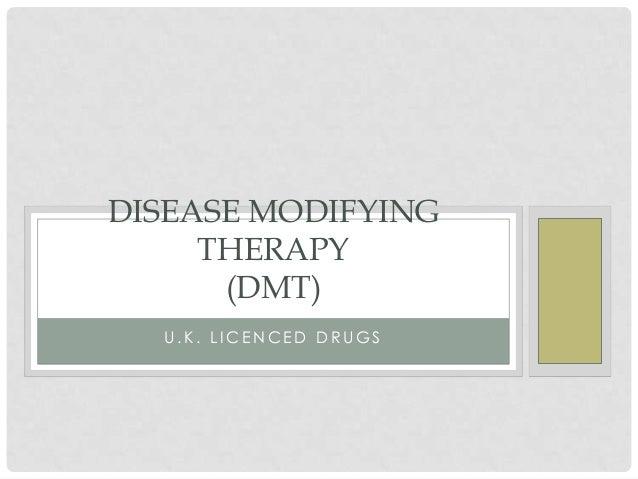 Disease modifying therapy presentation