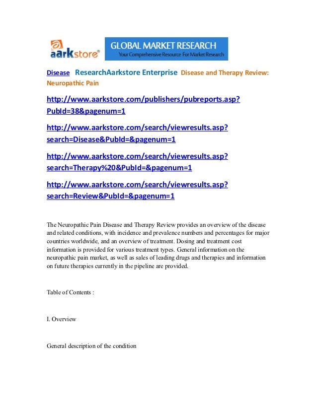Disease   research aarkstore enterprise  disease and therapy review neuropathic pain