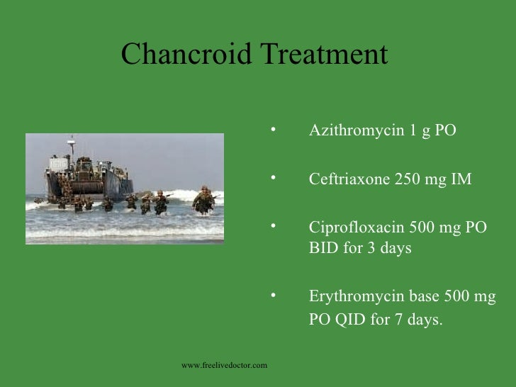 Chancre syphilis treatment azithromycin
