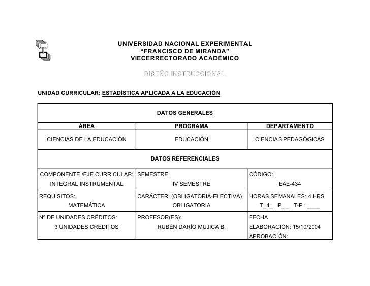 """UNIVERSIDAD NACIONAL EXPERIMENTAL                                 """"FRANCISCO DE MIRANDA""""                              VIEC..."""