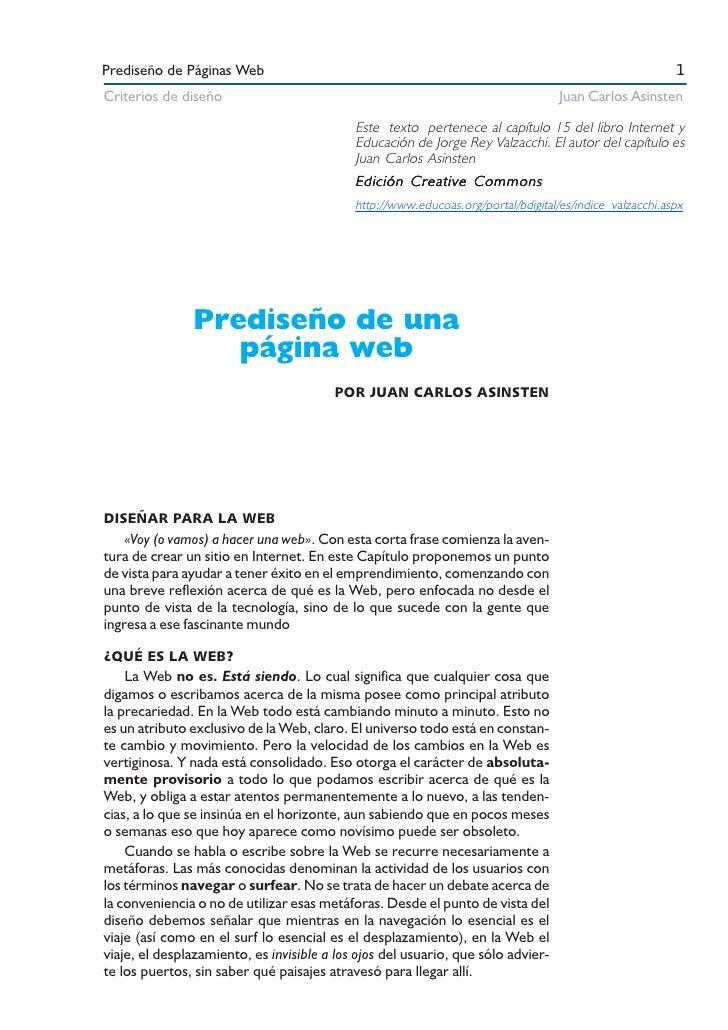 Prediseño de Páginas Web                                                                                 1 Criterios de di...