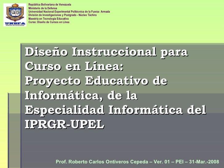 Diseño Instruccional Curso en Línea: PEI