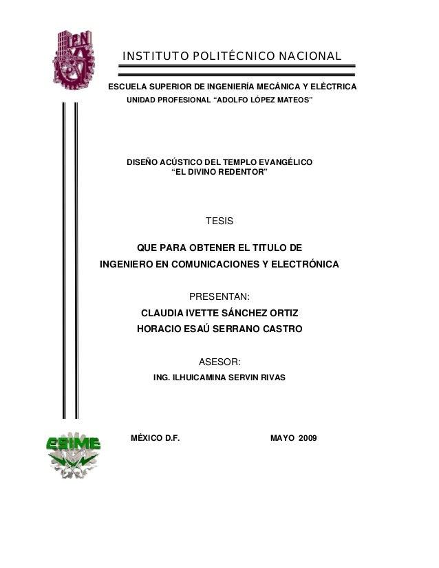 """INSTITUTO POLITÉCNICO NACIONAL ESCUELA SUPERIOR DE INGENIERÍA MECÁNICA Y ELÉCTRICA UNIDAD PROFESIONAL """"ADOLFO LÓPEZ MATEOS..."""