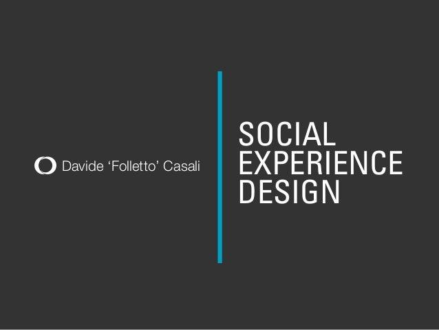 Diseño experiencia social