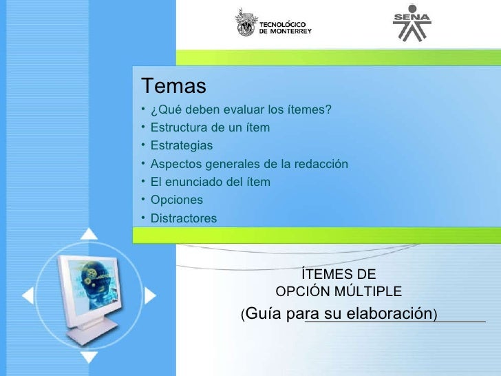 Diseno Instrumentos Unidad 2 01 Itemes De Opcion Multiple