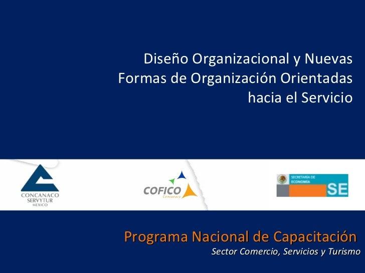Diseño Organizacional y Nuevas Formas de Organización Orientadas hacia el Servicio