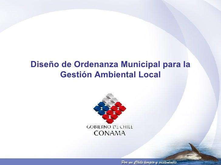 Diseño de Ordenanza Municipal para la Gestión Ambiental Local