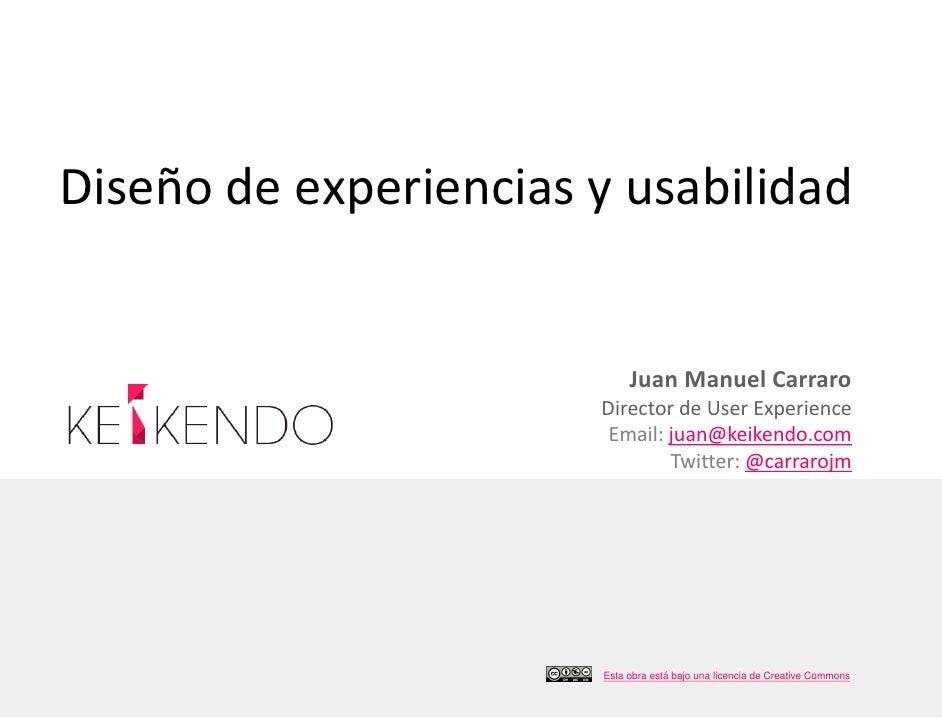 Diseño experiencias-usabilidad