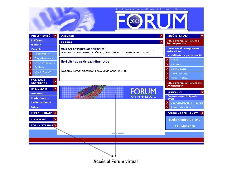 Accés al Fòrum virtual