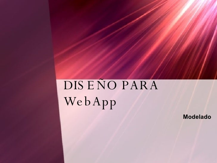 DiseñO Para Web App