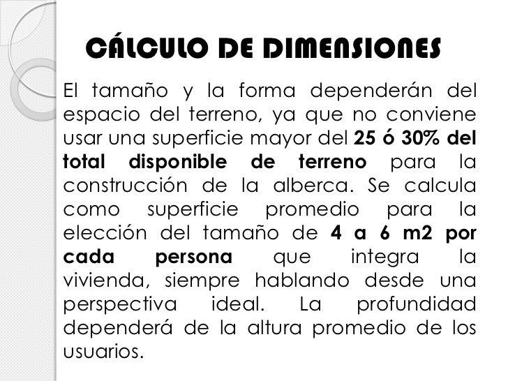 Dise o b sico de red hidr ulica en tinas de ba o y albercas for Medidas de albercas para casas