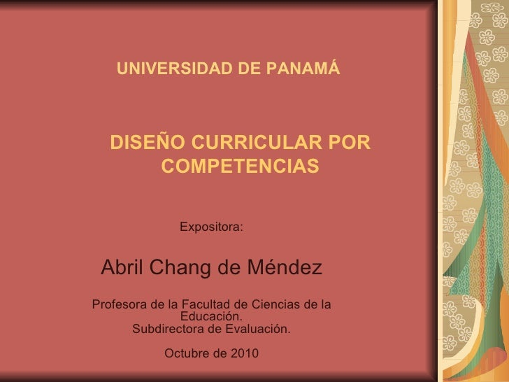Diseño curricular competencias am