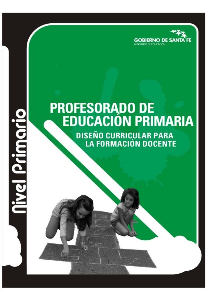 Diseño curricular para la formación docente