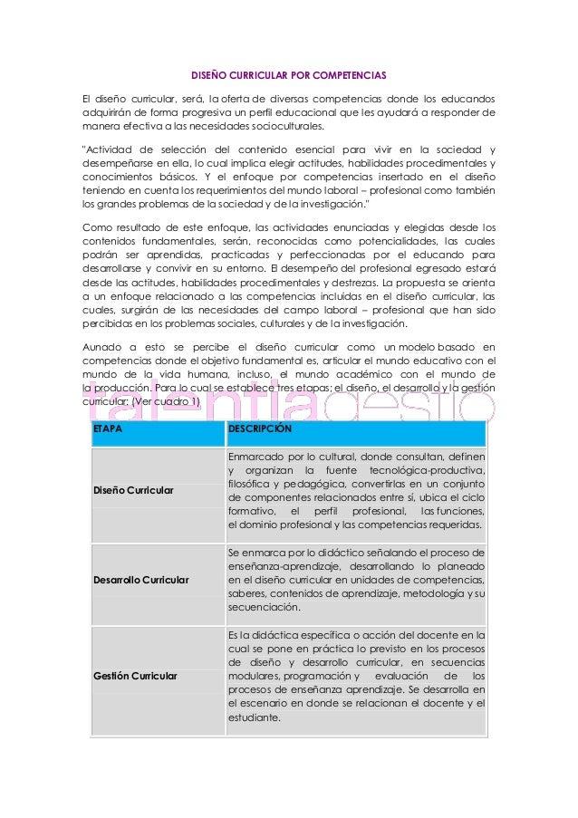 DISEÑO CURRICULAR POR COMPETENCIAS El diseño curricular, será, la oferta de diversas competencias donde los educandos adqu...