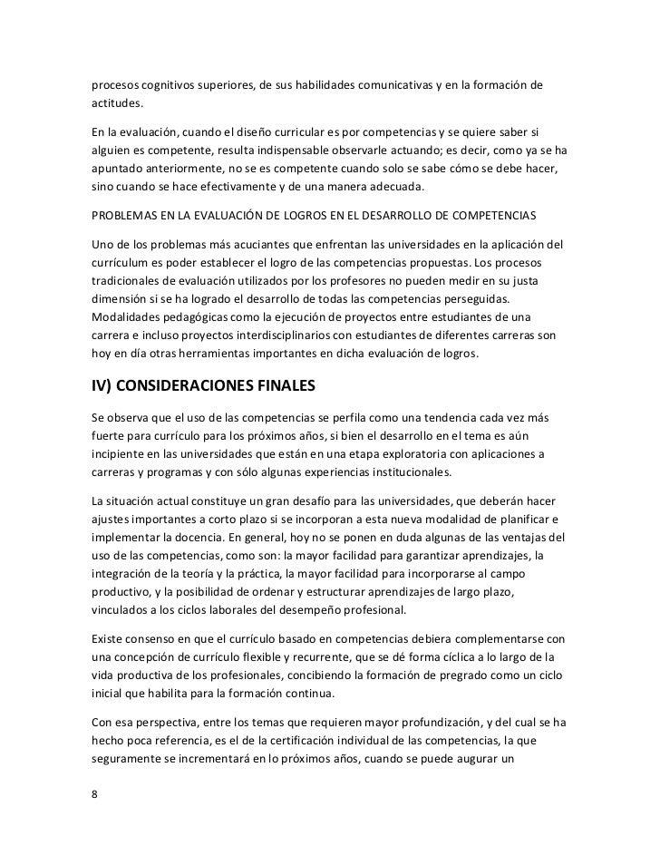 EL PLAN CURRICULAR Y EL DESEMPEÑO ACADÉMICO POR COMPETENCIAS DE LOS ...