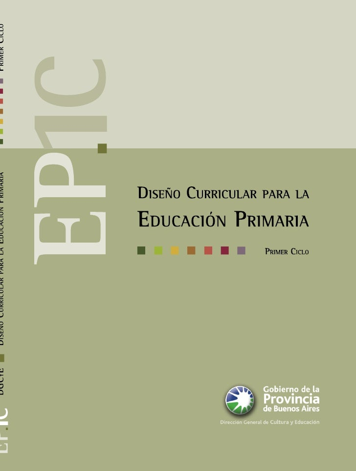Diseño curricular primaria 1 ciclo