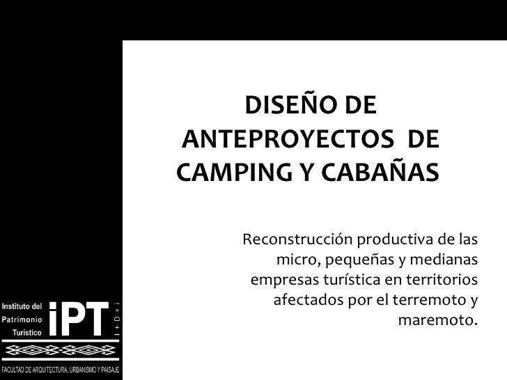 Reconstrucción productiva de las micro, pequeñas y medianas empresas turística en territorios afectados por el terremoto y...