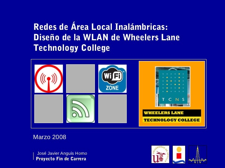 Diseño de la wlan de wheelers lane technology college