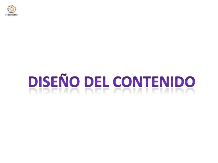 Diseño del contenido