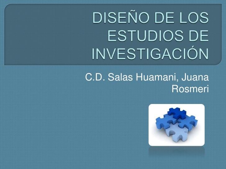 Diseño de los estudios de investigación