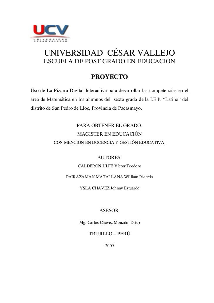 PROYECTO DE TESIS EN EDUCACION