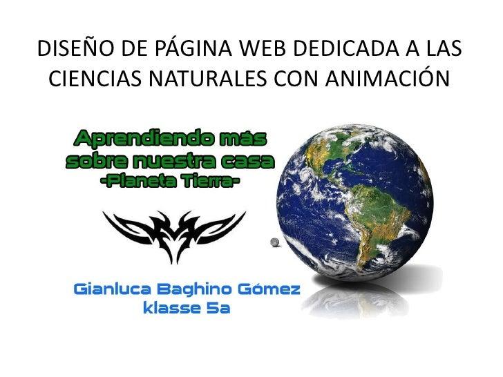 Diseño de pagina web dedicada a las ciencias