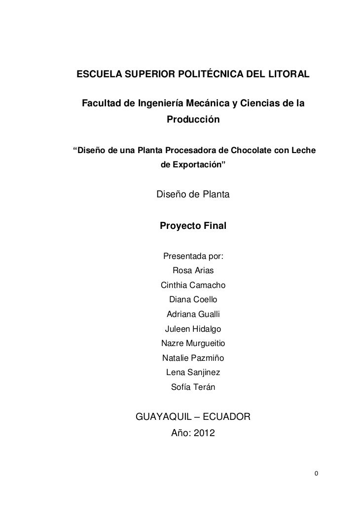 """ESCUELA SUPERIOR POLITÉCNICA DEL LITORAL Facultad de Ingeniería Mecánica y Ciencias de la                     Producción""""D..."""