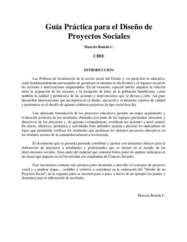 Diseño de proyecto social